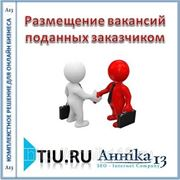 Размещение вакансий поданных заказчиком для сайта на tiu.ru фото