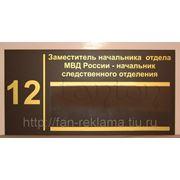 Офисные и дверные таблички фото