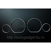 Кольца в приборную панель BMW E36 пластик (серебро) фото