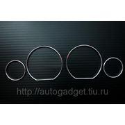 Кольца в приборную панель BMW E36 пластик (хром) фото