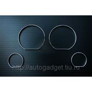 Кольца в приборную панель BMW E46 пластик (серебро) фото