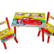Детский набор столик и 2 стульчика Тачки фото
