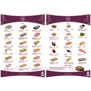 Дизайн меню для суши-бара фото