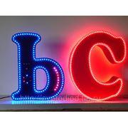 Объемные буквы с открытыми светодиодами фото
