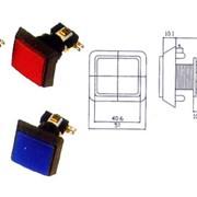 PB-06 Кнопка квадратная с микропереключателем и лампочкой фото