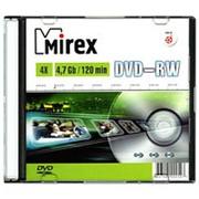 Оптический диск DVD-RW 4.7 Гб Mirex 4-ск. слим, многократный, целлофанирован по 1шт. фото