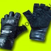 Перчатки для фитнеса (кожа, замша) фото