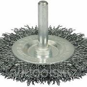 Щетка Зубр Эксперт дисковая для дрели 2-рядная, витая стальная проволока 0,3мм, 75мм Код:35198-075-2_z01 фото