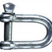 Скоба такелажная (прямой тип), оцинкованная 14 мм фото