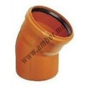 Колено ПВХ канализация д.160/30 (5123) фото