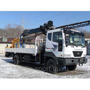 Услуги крана-манипулятора Daewoo Novus + Hiab 190T, грузоперевозки фото