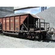 Разгрузка сыпучих грузов (щебень, песок) фото