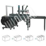 Автоматическая упаковочная линия для заклейки и обвязки коробов XFK-1 фото
