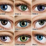 Примерка цветных контактных линз бесплатно фото