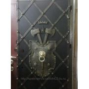 Дверь с откованым листом! фото