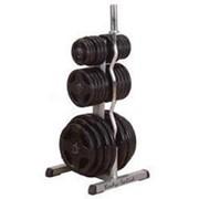Профессиональный тренажер Body Solid Боди Солид OWT29 Стойка для олимпийских дисков и двух олимпийских грифов. фото