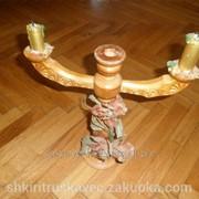 Подсвечник, деревянный 1, декоративный фото