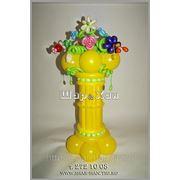 Колонна с цветами №1 фото