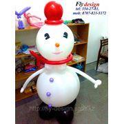 Снеговик из шаров фото