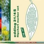 Набор флипчарт-маркеров EcoLine, 1.5-3 мм, круглые, 4 цвета Ассорти фото