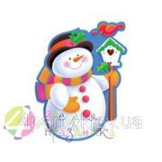 Баннер Снеговик 41см (картон, глянец) фото