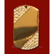 Медальон со стразами диагональ 29х50мм с нанесением изображения фото