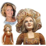 """Дама в палевом"" кукла-портрет фото"