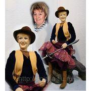"""""""Дама с арбалетом"""" кукла-портрет фото"""