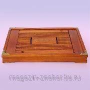 Столик чабань 44х28 бамбук фото