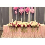 Цветочное оформление свадьбы фото