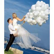 Воздушные шары на свадьбу фото