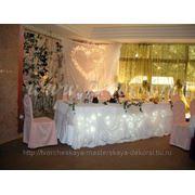 Оформление свадьбы, украшение зала шарами, доставка шаров, выездная регистрация. Печать на шарах фото