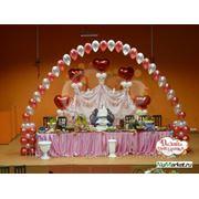 Оформление зала на свадьбу, юбилей, корпаратив и т.п. фото
