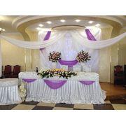 Текстильное оформление свадьбы фото