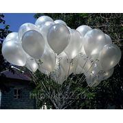 Воздушные шары - белые, перламутр фото