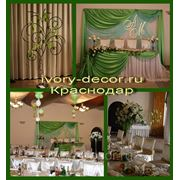Оформление свадебного зала в ресторане.Зеленый мотив фото