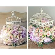 Клетка декоративная с флористикой фото