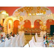 Свадебное оформление шарами фото
