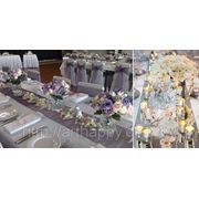 Чехлы и декор для стульев. Свадебные украшения фото