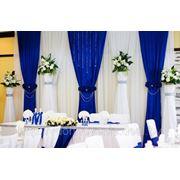 Эксклюзивное свадебное оформление цветами и тканями! фото