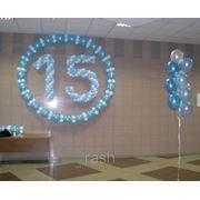 Цифры из шаров 108 шаров фото