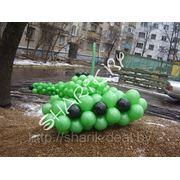 Танк из воздушных шаров фото