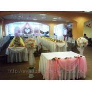 Оформление свадебного зала в розовом цвете фото