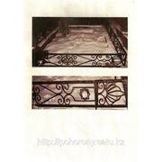 Ритуальные кованные ограды фото
