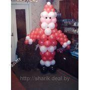 Дед мороз из воздушных шаров фото