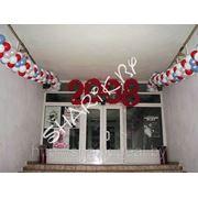 Новогоднее оформление входа фото