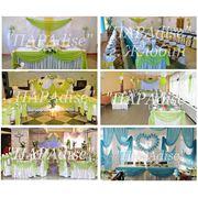 Свадебный декор в голубом и салатовом цветах фото