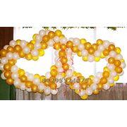 Яркая свадьба в Минске. Украшение зала шариками. Воздушные шары. фото
