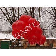 Букет из гелевых шаров сердца 40см (цена указана за один шар) фото