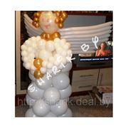 Ангел из воздушных шаров фото